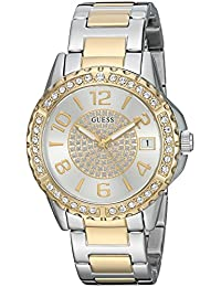 GUESS Women's Quartz Stainless Steel Casual Watch, Color:Two Tone (Model: U0779L4)
