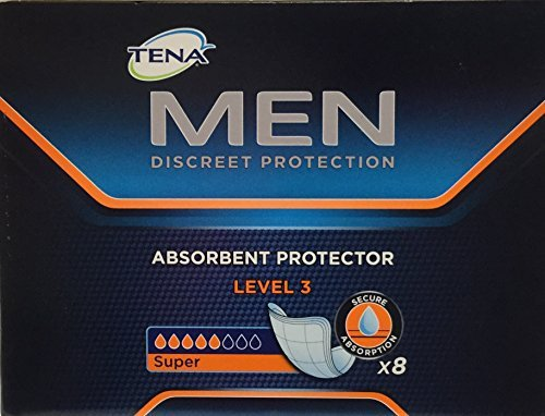 Tena Men Absorbent Protector Level 3 Pads - Pack of 16 by...