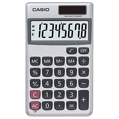 - Casio SL-300SV Solar Powered Standard Function Calculator