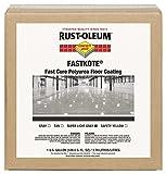 Rust-Oleum 277497 FastKote Polyurea Floor Coating, 1-Gallon, Super Light Gray