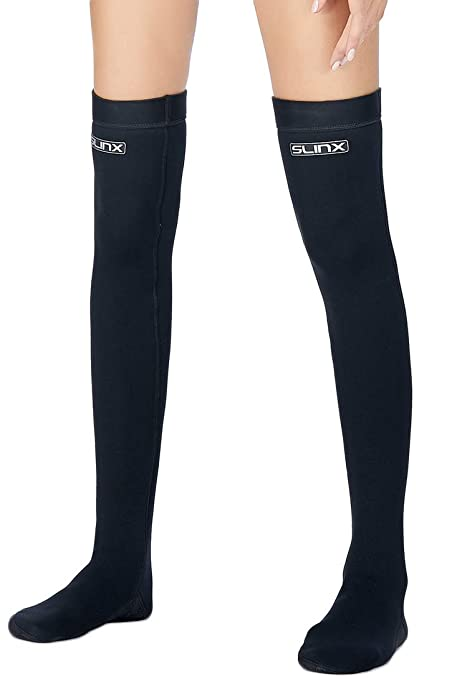 Micosuza Women s Water Socks Long Neoprene 2mm Thermal Wetsuits Stockings  Flexible for Snorkeling Surfing Diving a80c9286d