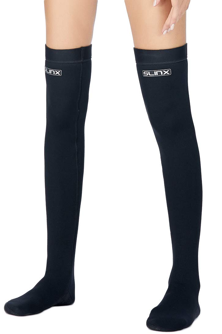 Micosuza Women's Water Socks Long Neoprene 2mm Thermal Wetsuits Stockings Flexible for Snorkeling Surfing Diving