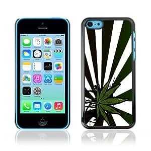 YOYOSHOP [420 Weed Marijuana Leaf Bud] Apple iPhone 5C Case