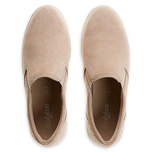 Marks & Spencer ,  Damen Durchgängies Plateau Sandalen mit Keilabsatz Dusky Pink-Suede