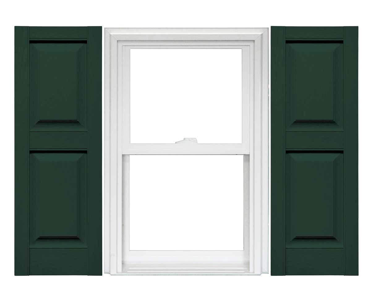 14.75 x 80-122 Midnight Green 1 Pair Mid-America Williamsburg Raised Panel Shutters