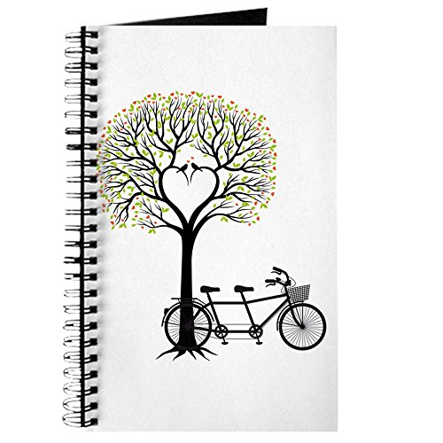 Bicycle Journal (CafePress - Heart tree with birds and tandem bicycle Journal - Spiral Bound Journal Notebook, Personal Diary, Lined)