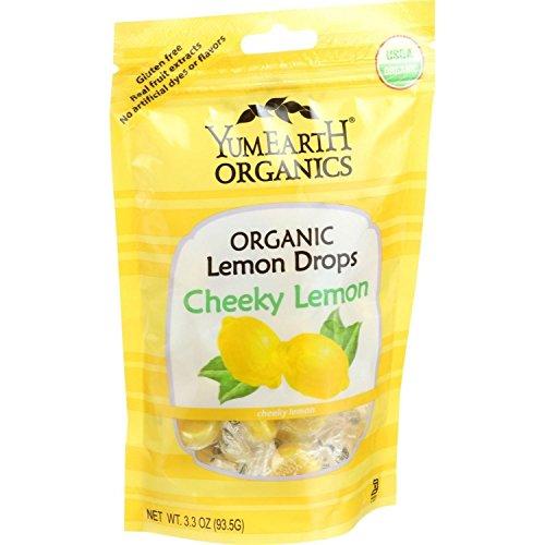 Organic Cheeky Lemon Drops - YumEarth Organics Organic Lemon Drops - Cheeky Lemon - 3.3 oz - Case of 6