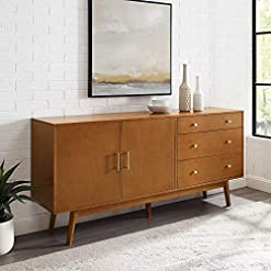 Kitchen Walker Edison Mid-Century Modern Wood Kitchen Buffet Sideboard Entryway Serving Storage Cabinet Doors Dining Room… modern buffet sideboards