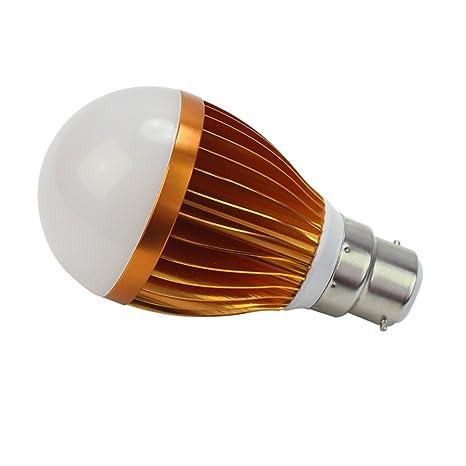 B22 5 W 5 LED blanca cálida luz de la bombilla Globo ca 85-265V