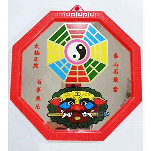 (HappyShopShop Chinese Feng Shui Pa KUA Bagua Mirror Yinyang Red 5