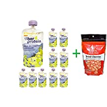 Nurture Inc. (Happy Baby), Happytot, Organic Superfoods, Fiber & Protein, Pear, Blue Blueberry & Spinach, 4 oz (113 g)( 10 PACK )+ Eden Foods, Selected, Dried Cherries Montmorency Tart, 4 oz (113 g)