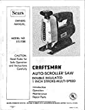 """1977 Craftsman 315.17280 Saber Saw 1""""-Stroke VS Auto-Scroller Review and Comparison"""