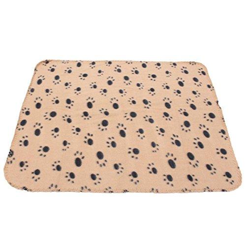FOCUSPET Haustierdecke Fleece Decke Hundedecke Tierdecke Katzen Heimtierdecke 60x70cm