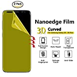 New Samsung Galaxy S9 + Plus Screen protector (2 Pack) ,3D Curved HD best Nanoedge TPU Guard Anti Shock Film,Proof ,Upgrade from tempered glass (Use advanced nano technology) Easy to install