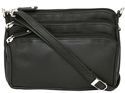 Adjustable Bum Strap Black Genuine Leather Felda Shoulder Ladies Body Bag Cross XWg60qw