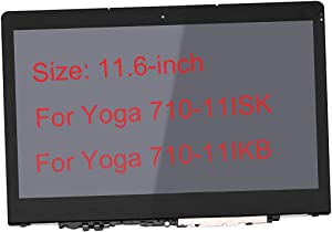 "11.6"" Touch Screen Replacement LCD Display Digitizer for Lenovo Yoga 710-11ISK Yoga 710-11IKB 80TX 80V6 80TX0007US 80TX000AUS 80TX000PUS 80TX000UCF 80V6000PUS"