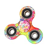 Vanvler Color Print Hand Spinner Focus Toys EDC Fidget Spinner Austism ADHD Education&Learning Toys (Red)