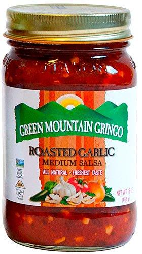 Green Mountain Gringo Salsa Fire Roasted Garlic -- 16 oz - 2 pc