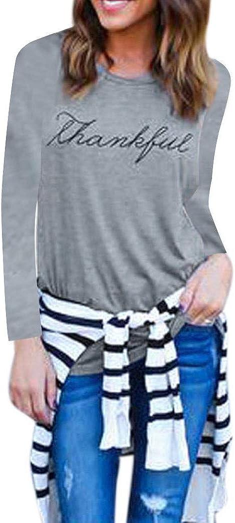 ESAILQ Art und Weisefrauen reizvoller Buchstabe Druck Srotveless O-Ansatz Weste Beh/älter Oberseiten beil/äufige Bluse