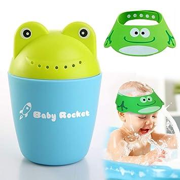 Amazon.com: Baby Bath Rocket y gorro de ducha para bebé | El ...