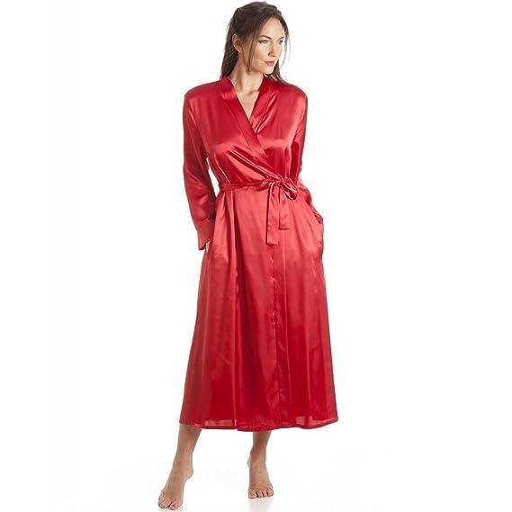 50ea57f56f4 Camille - Robe de chambre de luxe en satin - femme- rouge  Amazon.fr ...