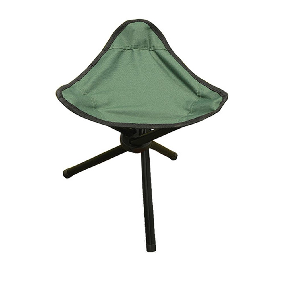 WINOMO Portable Folding Tripod Stool Three Legged Stool Chair for Outdoor Camping Hiking Fishing (Green)
