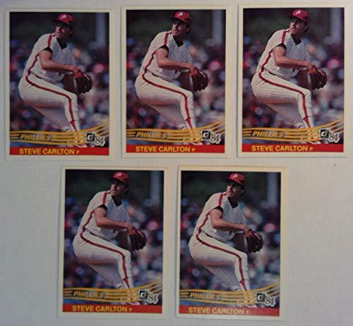 Donruss 1984 Steve Carlton Phillies Pitcher Baseball Cards # 111 Lot of 5