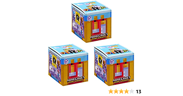 Lot Of 4 For A Good Deal... 4 Minecraft Cute Mini Series 18 Mystery Pack..