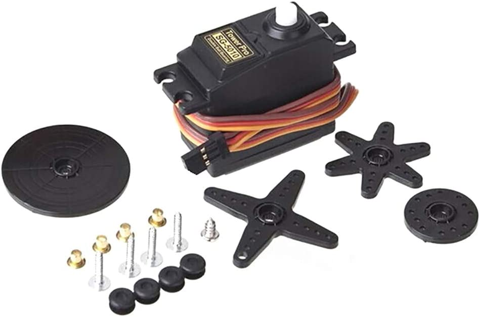 erDouckan Servo /& RC Model Standard Servo Set Double Bearing Lightweight for RC Airplane Car Ship Perfect for Family Woodworking
