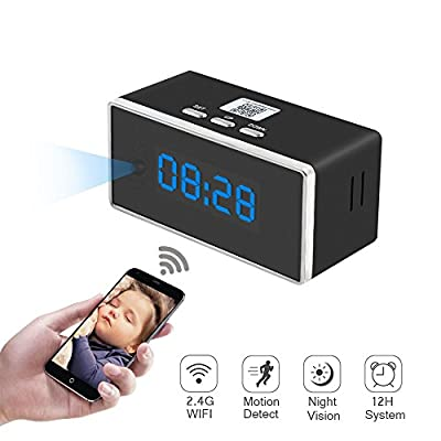 Hidden Spy Camera, ZTCOO Mini Hidden Clock Camera Wi-Fi,Secret Camera with Motion Detection, Night Vision, Video Recorder, HD Wireless Nanny Cam for Home Security by ZTCOO