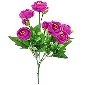 STOBOK 2pcs Artificial Camellia Flowers Bouquet Fake Plant Bundle for for Party Wedding Home Decoration (Purple) 73