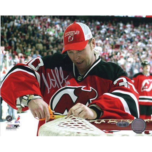 Martin Brodeur Autographed 8X10 Photo (Cutting Net)