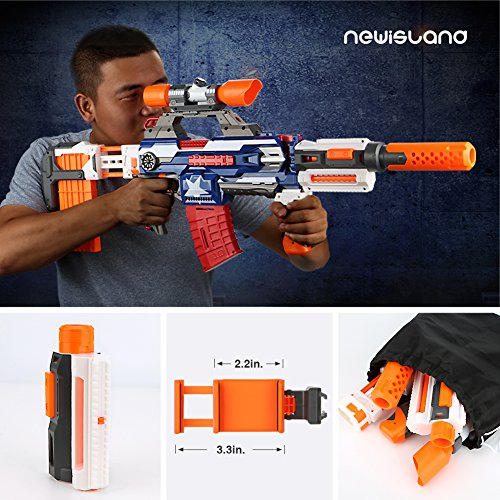 Amazon.com: Compatible Modulus Attachments,Newisland 6 Sets Blaster Upgrade  Kits for Nerf N-Strike Elite Series Guns: Toys & Games