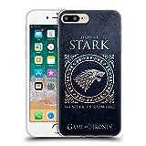 Official HBO Game Of Thrones Stark Metallic Sigils Soft Gel Case for Apple iPhone 7 Plus / 8 Plus