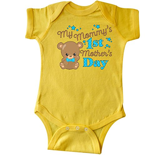 inktastic - Mommys 1st Mothers Day-Cute Infant Creeper 18 Months Yellow 2f874