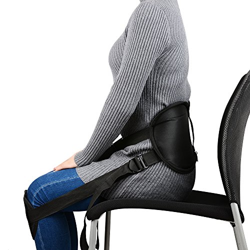 Adjustable Waist ProtectionBestrice Portable Back Support Belt Pad for Better Sitting Waist Protector by Correcting Posture While Sitting Support Brace for Pain Relief