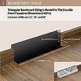 Accord Baseboard Register with Sunburst Design