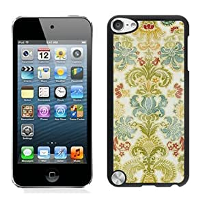 Elegant Ipod Touch 5 Case Colorful Damask Retro Soft TPU Silicone Black Cover for Ipod 5th Generations
