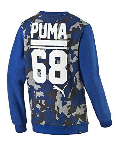 Puma - Style Crew Sweat, color azul, talla 7-8 Years