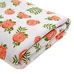 Ufraky-Newborn-Receiving-Blanket-Headband-Set-Flower-Print-Baby-Swaddle-Blanket-Outfit-3543×3543-Multia