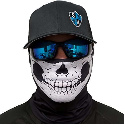 Sa fishing men 39 s spf half skull face shield fits all for Sa fishing face shield