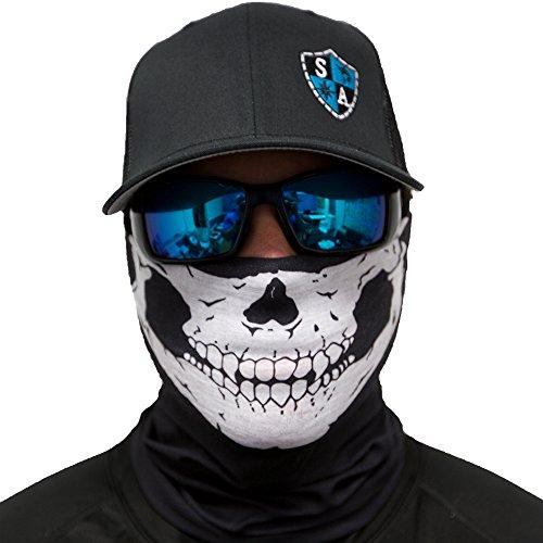 Sa fishing men 39 s spf half skull face shield fits all for Sa fishing face shield review