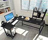 ELEVENS Modern L-Shaped Corner Desk Computer Office PC Laptop Table Home Office Study Table Workstation