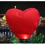 10 PCS Sky Chinese Lanterns Flying Paper Wish Wishing Balloon Heart-shape for Wedding Festival Xmas Christmas Party