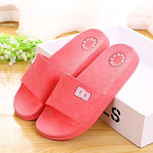plastic watermelon slippers 37 red antiskid summer slippers thick home Lovers base gOqwHx74a