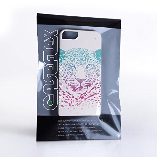 Caseflex Coque iPhone 5 / 5S Etui Bleu / Pourpre Léopard Éclaboussement Dur Housse
