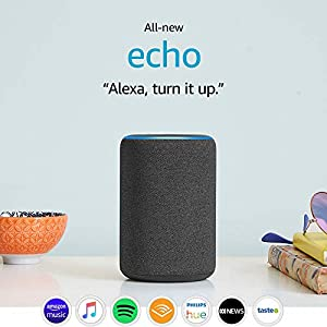 All-new Echo (3rd Gen) - Smart speaker with Alexa - Charcoal Fabric
