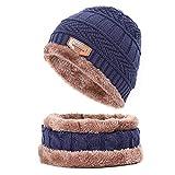Autumn and Winter boy Knit Cotton Cap Plus Velvet Thick ski mask hat Scarf boy Girl Universal Warm Comfort
