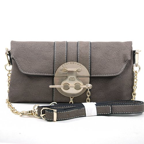Dasein Fashion Women's Petite Gold-Kissed Chic Versatile Clutch Shoulder Bags Purse Wallet -Pewter Petite Purse Handbag