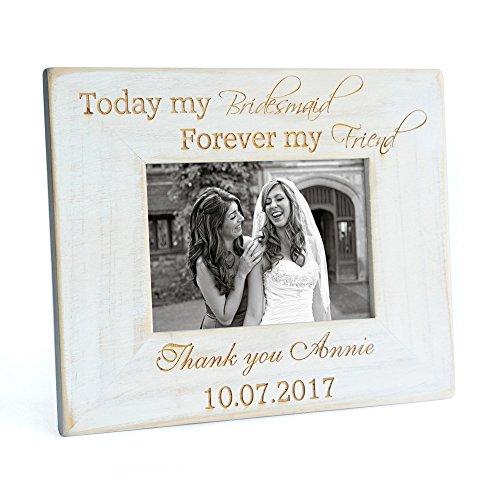 weddinghanger2015 Custom Vintage Bridesmaid Picture Frame, Bridesmaid Gift Wood Picture Frame Photo Frame